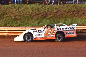(Travis Dockery • Clay County Progress) David Payne speeds down the straightaway as the eventual winner turns practice laps.