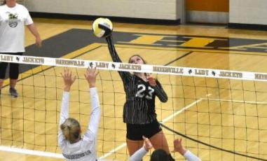 (Travis Dockery • Clay County Progress) Jena Baldwin and the Lady Yellow Jacket volleyball teams will hit the court in November