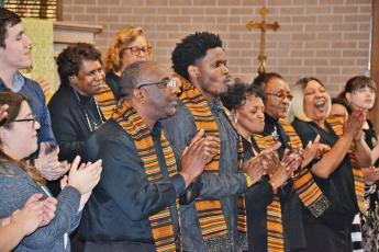 The Alliance Community Gospel Choir rocks the house at the beginning of the Alliance for African American Music benefit concert Sunday in Cornelia.