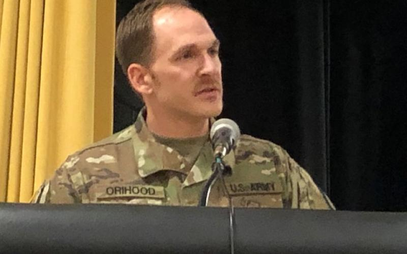 Sergeant Joshua Orihood of the North Carolina National Guard Counterdrug Program.