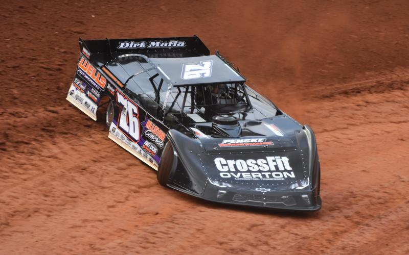 "(Travis Dockery • Clay County Progress) Defending ""Tarheel 50"" winner Brandon Overton turns laps at Tri County during the ""Tarheel Invitational"" earlier in the 2020 season"